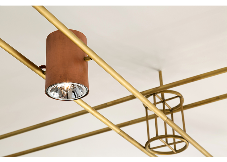 AXIS ceiling light - bronze - copper