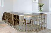 millipede desk - bronze - palisander veneer wood