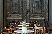 courtyard boiserie - traditional cafe in Rhodes - photo credits: George Fakaros